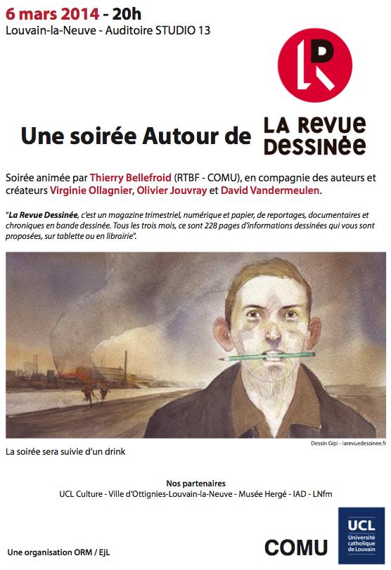 """6 mars: soirée """"Autour de la Revue Dessinée"""""""