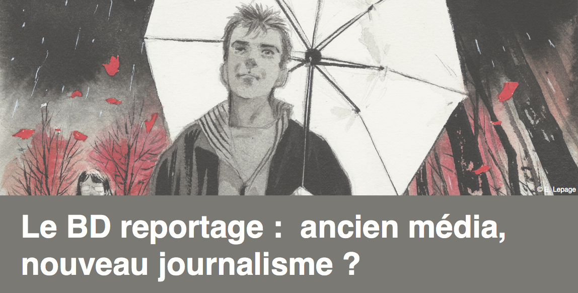 """3 avril: inscription à la soirée-rencontre au Musée Hergé """"Le BD reportage : ancien média, nouveau journalisme ?"""""""